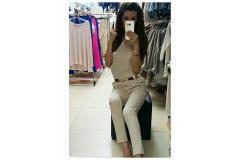 Long Overal in beige, XS-L