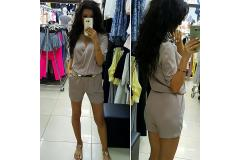 Overal short in cappuccino, XS-L