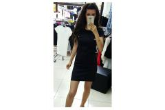 Military Dress in black, XS-L