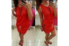Red dress Mavia, S-M