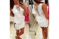White dress Mavia, S-M