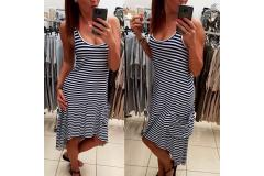 Stripe blue dress Kasia, S-M