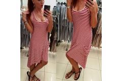Stripe red dress Kasia, S-M