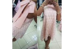Lace Dress in pink, S-M