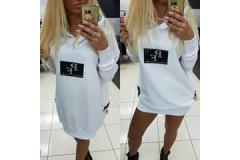 Blouse PF with hoody white, S-L