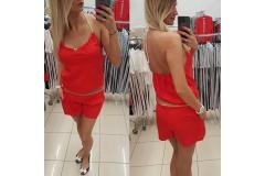 Shorts overal in red, S-M
