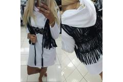 Blouse PF with hoody and vest, white, S-L