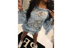 Paparazzi lace blouse blue