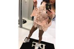 Paparazzi lace blouse pink