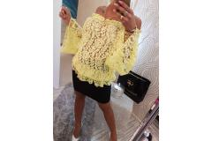 Paparazzi lace blouse yellow