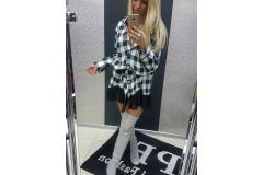 Dress Paparazzi in black-white, M/L