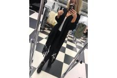 Paparazzi cardigan in black, M-L
