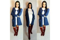 Cardigan Classic in navy, S-L