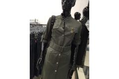 Military Dress with belt in khaki, S-M
