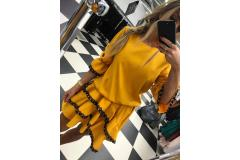 Dress Viola mustard, M-L