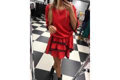 Dress Viola red, M-L