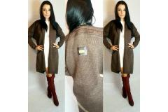 Cardigan De Lux in brown, S-L