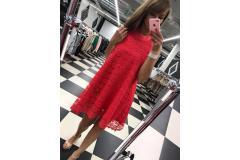 Lace Dress in raspberry, S-L