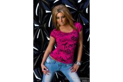 Shirt printing in pink/black