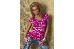 Shirt printing in pink/white