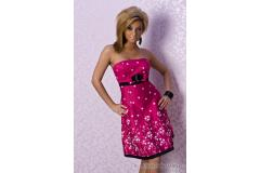 Short summer flower dress in pink