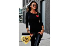 Longsleeve Lips in black, XS-M