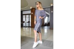 Bastet grey dress, S-XL