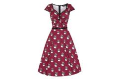 Lady Vintage Isabella Crimson Kitty Dress