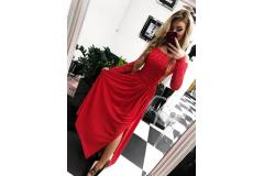 Lace dress Laura red, XS-M
