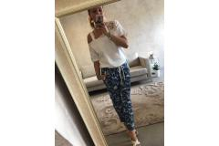 Pants with flowers, S, L