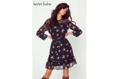Bastet dress with flowers, S-M