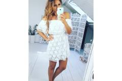 Lace dress white, S-M