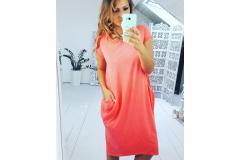Dress Justy coral, M-L