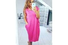 Dress Justy fuchsia, M-L