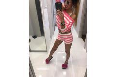 Sweater komplet Paparazzi pink-white, S-M