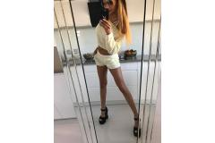 Sweater komplet Paparazzi yellow-white, S-M
