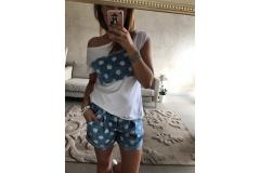 Jeans Shorts with dots, L-XL