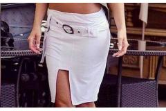 Skirt in white, S-XL