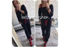 Jogging set in black, S-XL