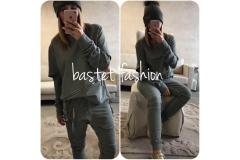 Jogging set in green, S-XL