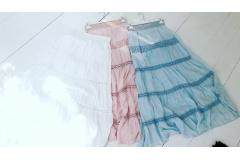Lace skirt blue, S-M