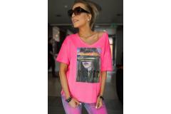 Bastet Shirt neon pink, M