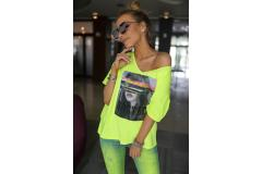 Bastet Shirt neon yellow, S-XL
