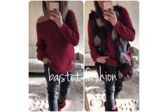 Bastet sweater bordo, S-XL
