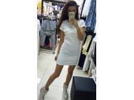 Šaty Military bílé, XS-L