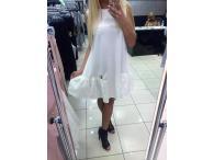 Šaty Barbie s krajkou dole bílé, S-M
