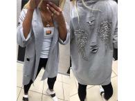 Kabátek PF Křídla šedý, M-L
