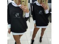 Mikina PF s kapucí černá, S-L