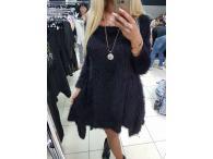 Šaty s řetízkem černé, S-L