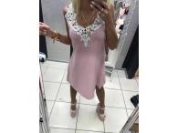 Tunika/šaty Paparazzi růžové, S-M